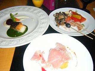 横浜ベイホテル東急 カフェトスカでナイトキッチンスタジアムのお料理2