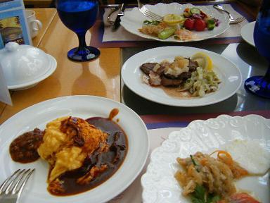 横浜ベイホテル東急 カフェトスカランチビュッフェの様子